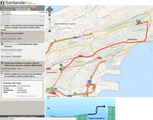 Versión web de SantanderGo!, un  planificador de viajes intermodales para Santander.