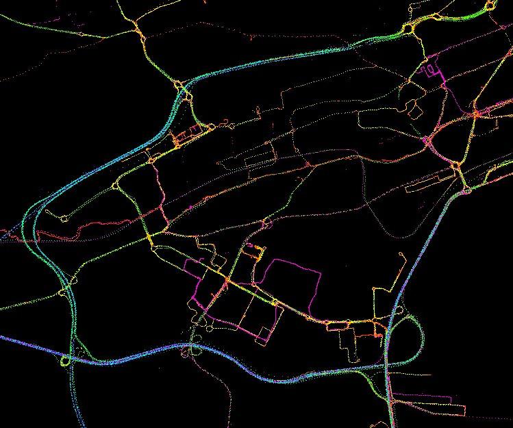 Trazas GPS en el sur de la bahía de Santander