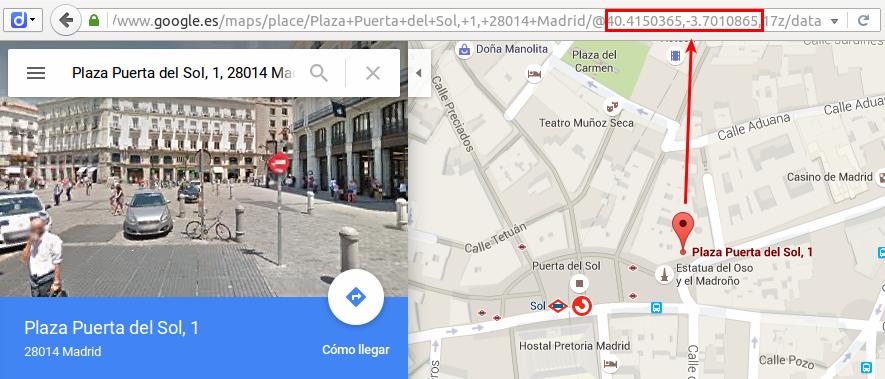Geocodificacion en Google Maps