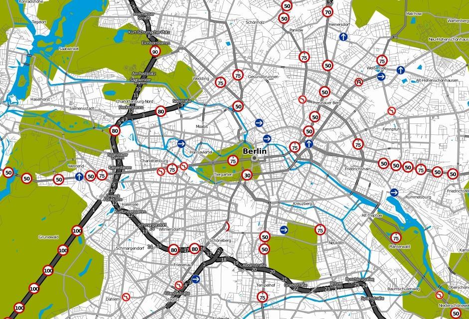 OSM: Límites de velocidad en Berlín