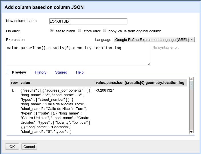 Extracción de la longitud de los datos JSON