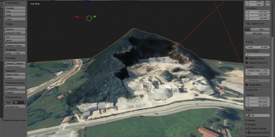 Modelado 3D de una explotación de áridos