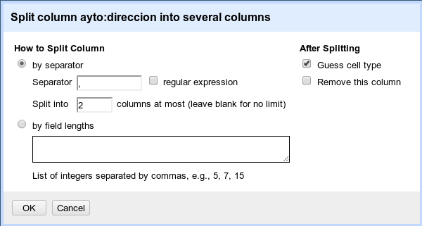 Dividir en columnas