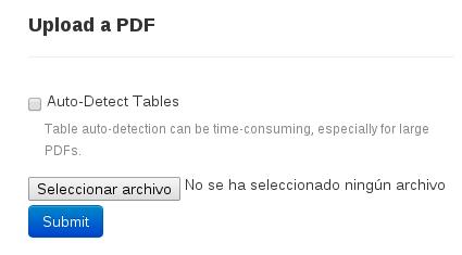 Seleccionar archivo PDF en Tabula
